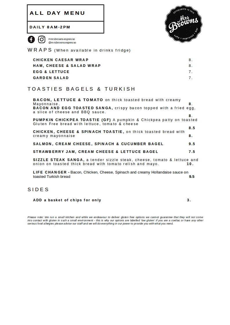 Mrs Browns Espresso & Bar_ Menu_ALL DAY MENU